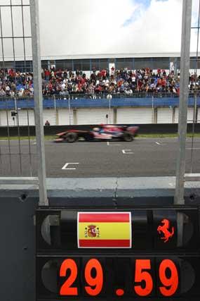 Reloj que contabiliza el crono de Alonso  Foto: Juan Carlos Toro