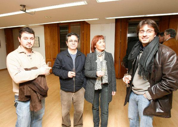 Aurelio Argüez, Juan Ángel González, Carmen Omist y Humberto del Río.   Foto: Pascual
