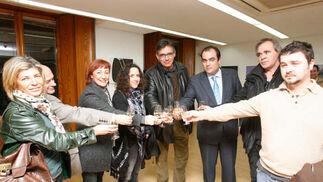 Organizadores, artistas y visitantes en la cita cultural.   Foto: Pascual