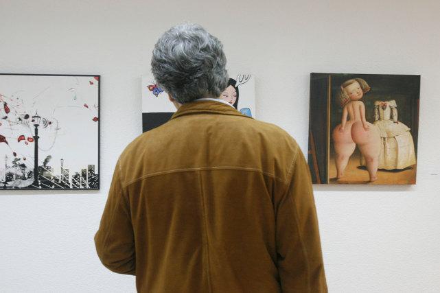 Vista de las obras que se exponen en la muestra.  Foto: Pascual