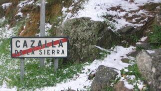 Nevada en Cazalla de la Sierra.  Foto: Juan Antonio Jiménez