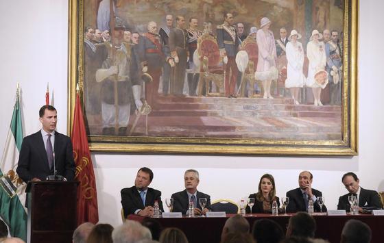Don Felipe, Príncipe de Asturias, habla durante la presentación de la Fundación Príncipe de Girona.  Foto: Juan Carlos Vázquez