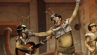 Un momento de la actuación de 'El escuadrón de los jartibles'  Foto: Jesus Marin/Lourdes de Vicente