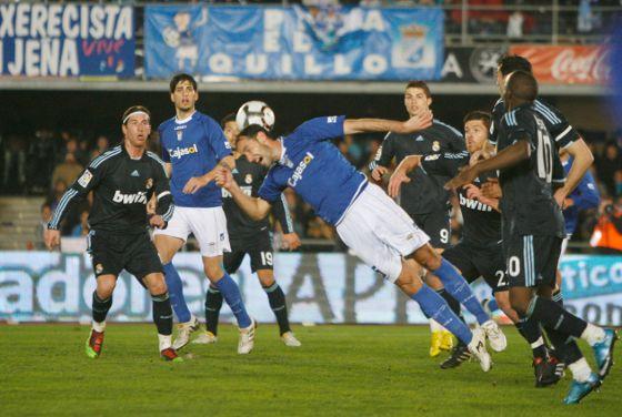 El Real Madrid solventa su visita al colista con una goleada tras los goles de Arbolea y Cristiano Ronaldo,que anotó en dos ocasiones.  Foto: Pascual