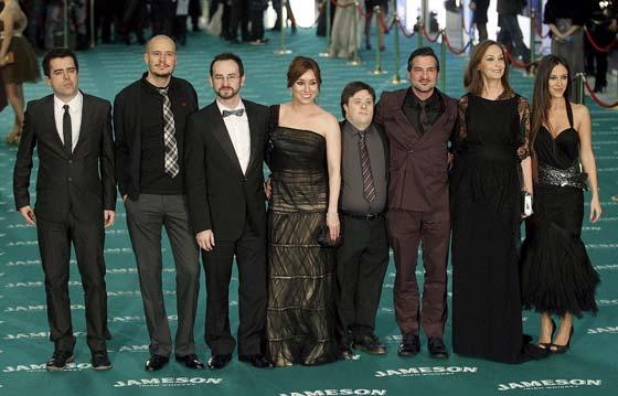 Los integrantes de la película 'Yo, también', nominada a cuatro premios, a su llegada al Palacio Municipal de Congresos de Madrid. / EFE