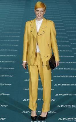 La modelo y actriz Bimba Bosé, a su llegada al Palacio Municipal de Congresos de Madrid. / Reuters