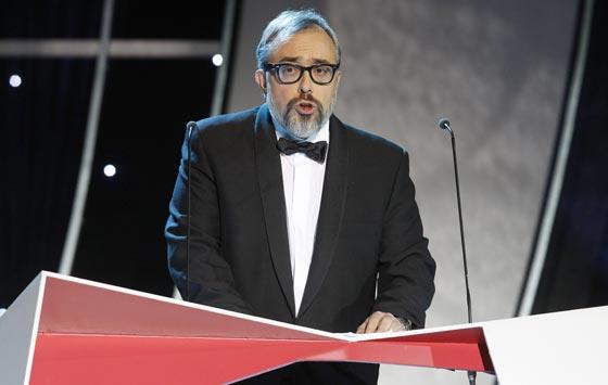 El director de la Academia, Álex de la Iglesia, durante su intervención. / REUTERS