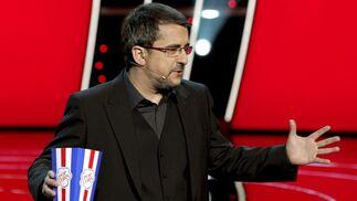 El presentador Andreu Buenafuente se dirige al público asistente a la XXIV edición de los Premios Goya. / EFE