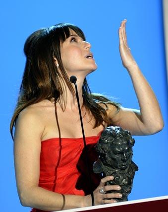 Marta Etura, mejor actriz secundaria por su papel en 'Celda 211'. / AFP PHOTO