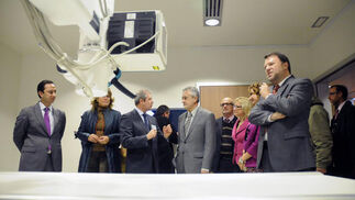 José Antonio Griñán, presidente andaluz, y Alfredo Sánchez Monteseirín, alcalde de Sevilla, han inaugurado el Centro de Salud Inmaculada Vieira Fuentes en Las Letanías.  Foto: Juan Carlos Vázquez