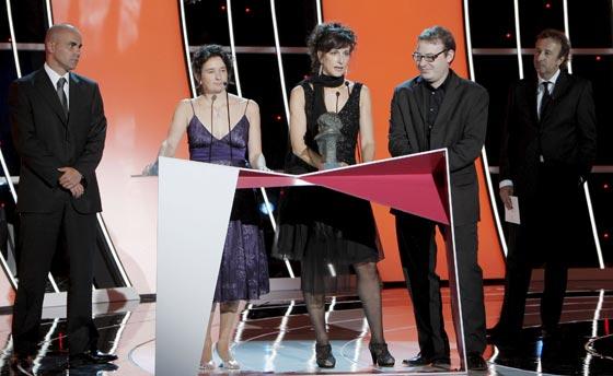 Los productores de 'El secreto de sus ojos' agradecen el Goya a la mejor película hispanoamericana. / Efe