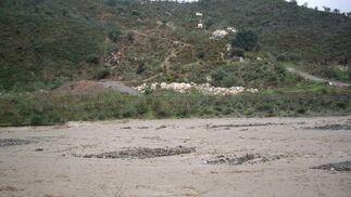 Desbordamiento del arroyo Totalán.  Foto: Migue Fernández, Sergio Camacho, Agencias