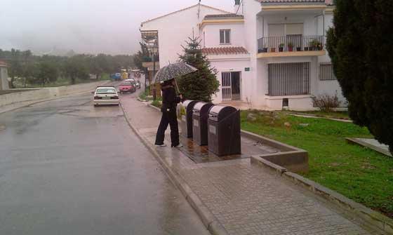 Intensas lluvias en el municipio de Yunqueras.  Foto: Agencias
