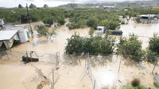 Inundaciones en el valle del Guadalhorce.  Foto: Migue Fernández, Sergio Camacho, Agencias