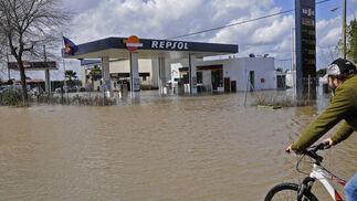 Una zona del pueblo totalmente anegada.  Foto: Juan Carlos Vázquez