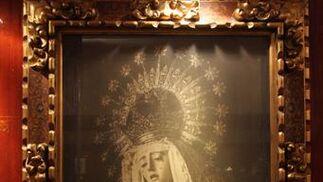 Cuadro antiguo de la Virgen.  Foto: Bel?Vargas