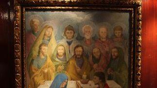 Cuadro con la cara de la Virgen.  Foto: Bel?Vargas