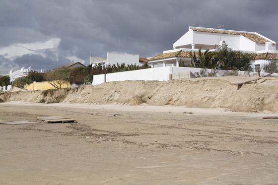 Estado de la playa El Rompido  Foto: Felipe Escobar