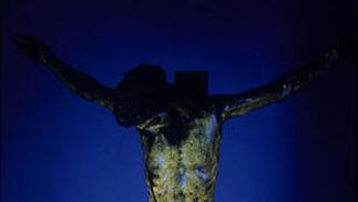 Cristo de San Bernardo (ultravioleta).  Foto: IAPH/Eugenio Fernández