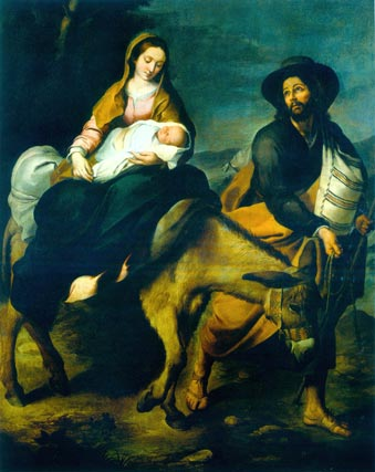 'Huida a Egipto'. Óleo sobre lienzo. 209,3x163 cm. Musei di Strada Nuova-Palazzo Bianco, Génova.