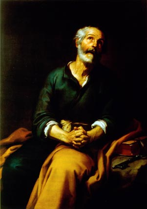 'San Pedro en lágrimas'. Óleo sobre lienzo. 148x104 cm. Museo de Bellas Artes de Bilbao.