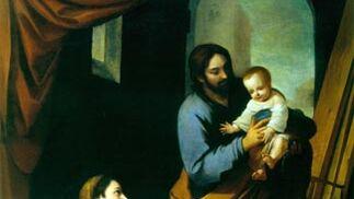 'La Sagrada Familia en el taller del carpintero'. Óleo sobre lienzo. 214x167 cm. Colección particular.