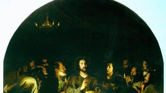 'La Santa Cena'. Óleo sobre lienzo. 310x276 cm. Iglesia de Santa María la Blanca, Sevilla.