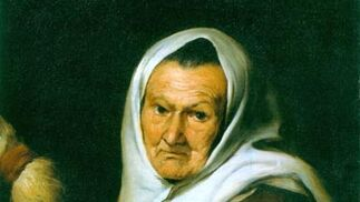 'Vieja hilandera'. Óleo sobre lienzo. 58,5x47 cm. The Hoare Collection (The National Trust), Stourhead.