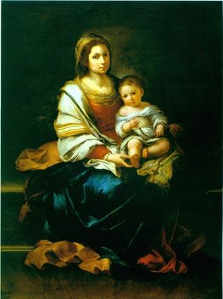 'La Virgen del rosario'. Óleo sobre lienzo. 166,3x123,3 cm. Musée Goya, Castres. Depósito del Musée du Louvre, 1949.