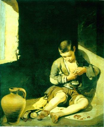 'El joven mendigo'. Óleo sobre lienzo. 134x110 cm. Musée du Louvre, París.