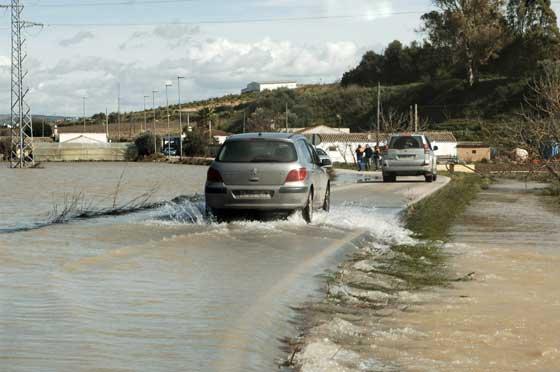 Carretera inundada en la barriada de La Pedrosa en Arcos de la Frontera  Foto: Paco Periñan / Aguilar / Borja Benjumeda / Pascual/ JC Toro / Efe