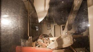 El techo del comedor se vino literalmente abajo  Foto: Salvador Rodríguez