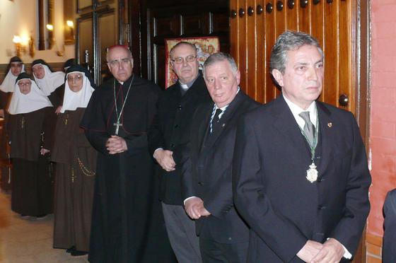 El Cristo de la Expiración, que preside el Vía Crucis de Huelva, ya está en la capilla de las Hermanas de la Cruz.  Foto: Alberto Domínguez