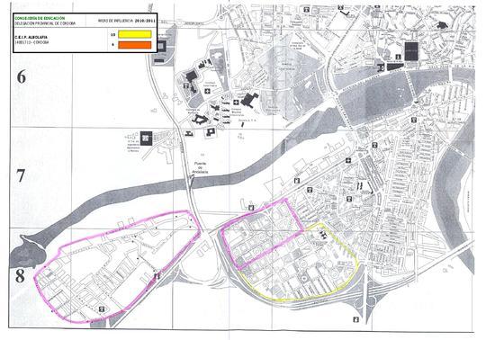 Mapa del colegio Albolafia.