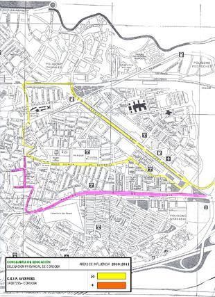 Mapa del colegio Averroes.