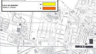 Mapa del colegio Azahares.
