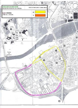 Mapa del colegio Córdoba.