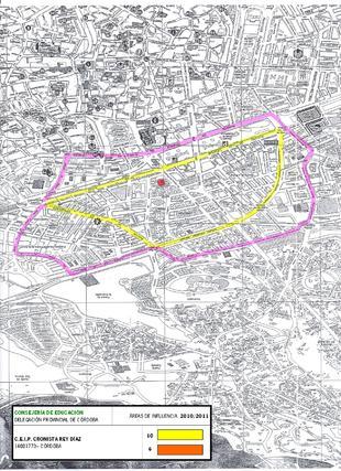 Mapa del colegio Cronista Rey Díaz.