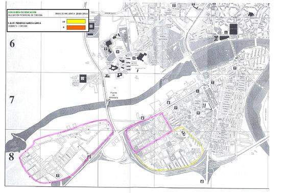 Mapa del colegio Federico García Lorca.