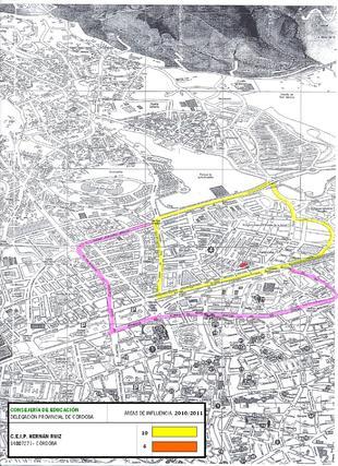 Mapa del colegio Hernán Ruiz.