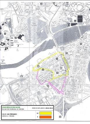 Mapa del colegio San Fernando.