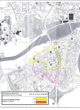 Mapa del colegio San Juan Cruz.