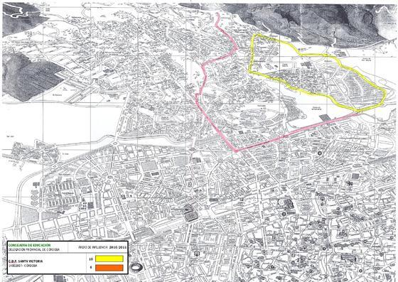 Mapa del colegio Santa Victoria.
