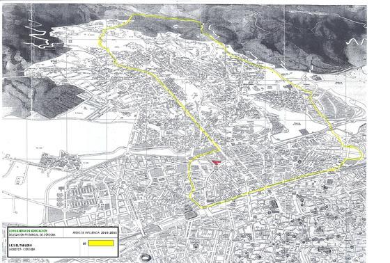 Mapa del colegio Tablero.