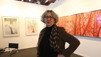La galerista jerezana Carmen de la Calle, en ART MADRID con Espacio de la Calle.  Foto: Juan Carlos Toro