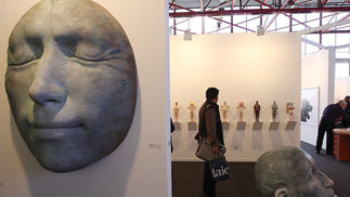 Una de las esculturas que se ha podido ver en la Feria de Arte.  Foto: Juan Carlos Toro