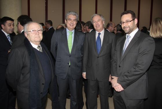 Luis Alarcón de la Oliva, de Galia, José Carlos Vázquez, de La Caixa; y Luis Chabrera y David Espada, ambos del Grupo Q.  Foto: M. GOMEZ/ VICTORIA HIDALGO