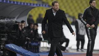 Leonid Slutsky, técnico del CSKA Moscú.  Foto: Antonio Pizarro