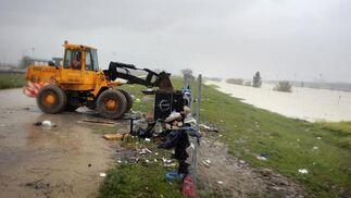 Imagen del momento del desalojo.  Foto: Juan Carlos Muñoz
