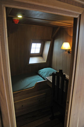 Un cama del Galeón Andalucía.  Foto: Juan Carlos Vázquez